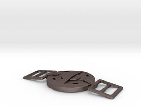 Deadpool Movie-Belt Buckle -80mm V.1 in Polished Bronzed Silver Steel