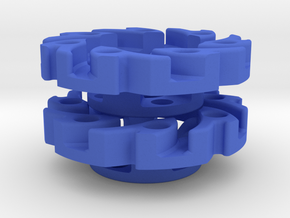 V2 VEX Mecanum Adapters for Tetrix Profiles in Blue Strong & Flexible Polished