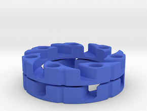 VEX Mecanum Wheel Adapter Backs in Blue Strong & Flexible Polished