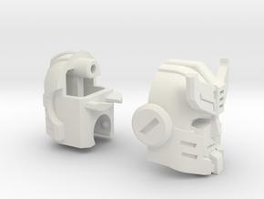 S.W.A.T. Intercepter's Head in White Strong & Flexible