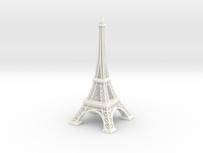 Eiffel Tower in White Strong & Flexible Polished