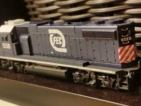 N Scale GP38-2 Radiator Grille - 10 Pack in Frosted Ultra Detail