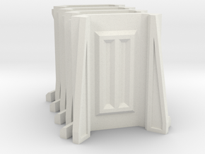 Sci-Fi Barrier / Wall / Corridor Corner (Set x4) in White Natural Versatile Plastic