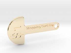 Loonie Shopping Cart Key in 14K Yellow Gold
