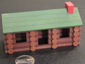 "Miniature Log Cabin (3-1/2"") in Full Color Sandstone"