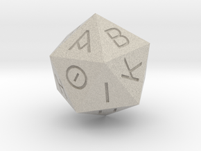 D20 Greek in Natural Sandstone