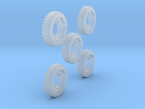 1-64 Solid Tire 1200x20 - 5 Units in Smooth Fine Detail Plastic