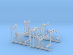 H0 1:87 Wendegabel (4 Stk) in Smooth Fine Detail Plastic