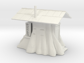 Stump Shack - O Scale in White Natural Versatile Plastic