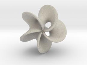 Geometric Pendant -  Mobius Flower in Natural Sandstone