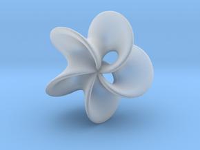 Geometric Pendant -  Mobius Flower in Smooth Fine Detail Plastic