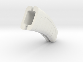 Retro Raygun: grip in White Natural Versatile Plastic