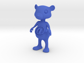 Tiny@belly bear in Blue Processed Versatile Plastic