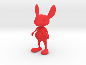 Tiny @Belly Bunny in Red Processed Versatile Plastic
