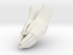 Praying Hands in White Natural Versatile Plastic
