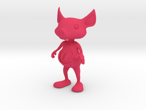 Tiny @Belly Pig in Pink Processed Versatile Plastic