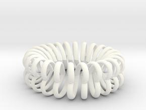 Herz Band Ring Ausn 11 in White Processed Versatile Plastic