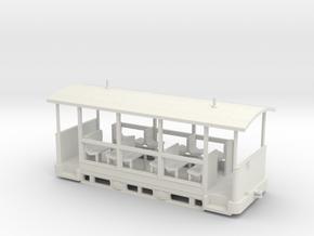Straßenbahn-Sommerwagen (ex Barmer Bergbahn) H0 16 in White Natural Versatile Plastic