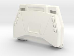 Lambo Chest Plate in White Processed Versatile Plastic: Small