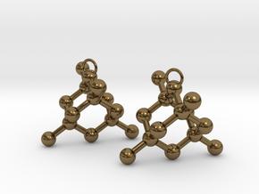 Diamond earrings in Polished Bronze