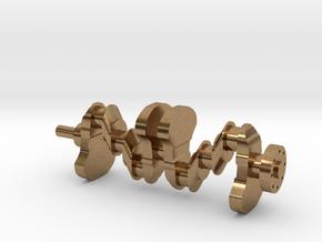 Motor part. crankshaft in Natural Brass