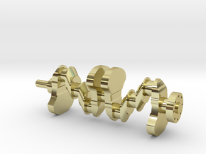 Motor part. crankshaft in 18k Gold