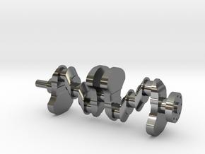 Motor part. crankshaft in Fine Detail Polished Silver