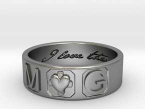 M and G Size 10 in Natural Silver