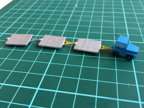 GSE Airport Baggage Container Cart 1:200 (9pc) in Smooth Fine Detail Plastic