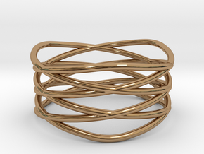 Triple Loop Ring (8) in Polished Brass