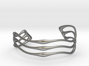 Bracelet Waves #2  in Polished Silver