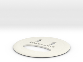 WAHSOME FRISBEE in White Natural Versatile Plastic