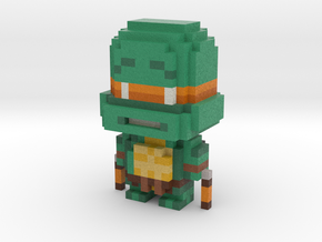 """Mikey"" Voxel Figurine in Full Color Sandstone"