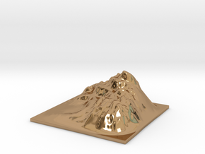 Mountain Landscape 1 in Polished Brass