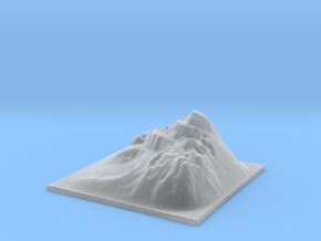 Mountain Landscape 1 in Smooth Fine Detail Plastic