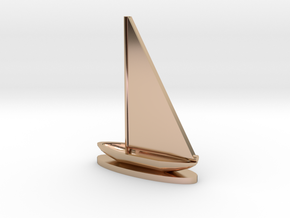 Sailboat in 14k Rose Gold Plated Brass