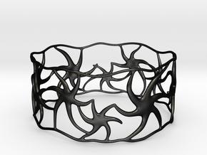 Star Bracelet in Matte Black Steel