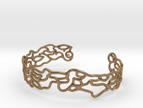 Cuff abstract #2  in Natural Brass