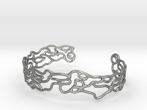 Cuff abstract #2  in Natural Silver