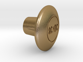 Shooter Rod Knob - Power in Polished Gold Steel