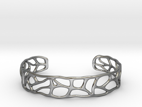 Bracelet abstract version #1 in Fine Detail Polished Silver