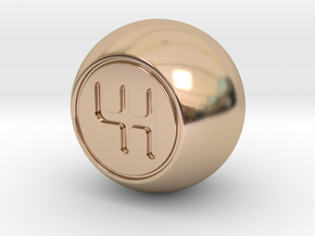 Shooter Rod Knob - GEAR Shift Ball in 14k Rose Gold Plated Brass