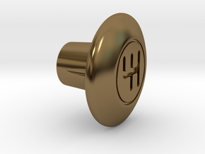Shooter Rod Knob - Gears in Polished Bronze