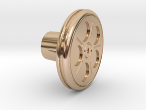 Shooter Rod Knob - Movie Reel in 14k Rose Gold Plated Brass