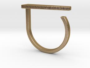 Adjustable ring. Basic model 10. in Polished Gold Steel