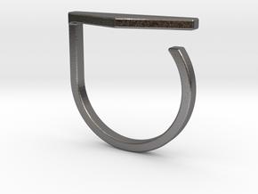 Adjustable ring. Basic model 11. in Polished Nickel Steel