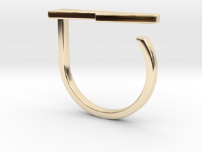 Adjustable ring. Basic model 13. in 14K Yellow Gold