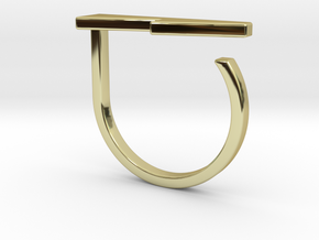 Adjustable ring. Basic model 13. in 18k Gold Plated Brass