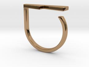 Adjustable ring. Basic model 14. in Polished Brass