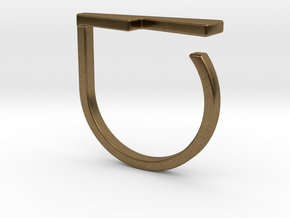 Adjustable ring. Basic model 14. in Natural Bronze
